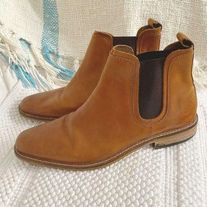 Men's Dune London Brown Malaga leather ankle boots